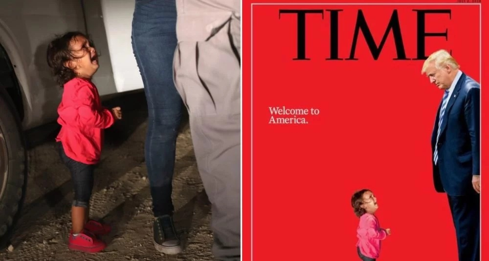 "Image: The most hilarious memes mocking TIME's fake news ""screaming migrant girl"" magazine cover"