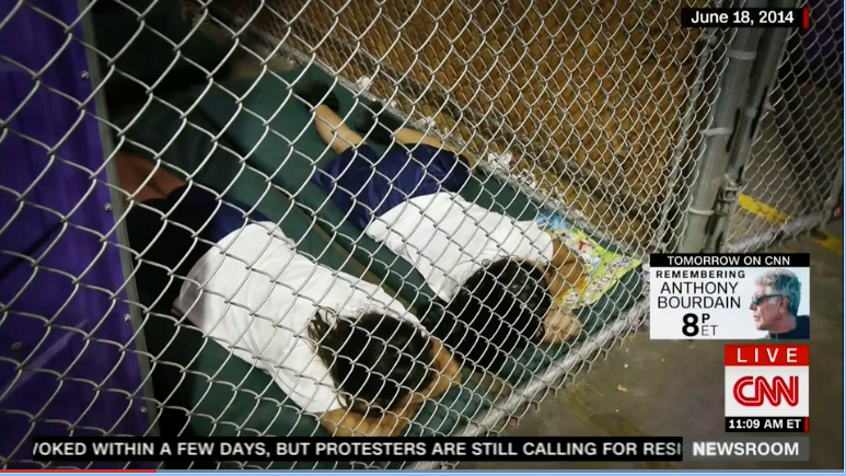 "Image: Remember when ""FEMA camps"" were derided as a crazy conspiracy theory of the Far Right? Now MSNBC is claiming Trump runs ""concentration camps"" in America"