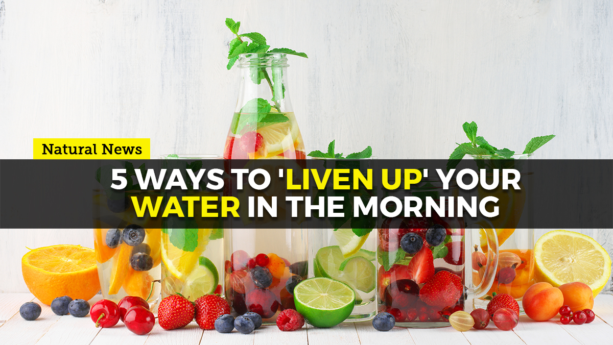Image: 5 ways to 'liven up' your water in the morning