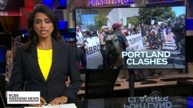 Image: CBS goes full fake news; tries to claim Antifa violence in Portland was committed by peaceful patriot groups