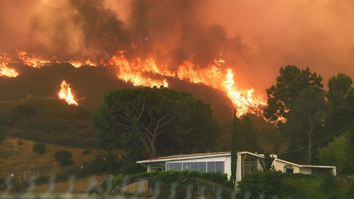 "Image: California is burning because of failed, ill-conceived left-wing ""global warming"" policies"