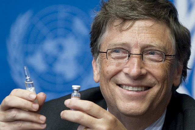 "Image: Same Bill Gates that calls for vaccines to reduce human population invests in lab-grown meat company that hopes to sell ""synthetic meat"" to consumers"