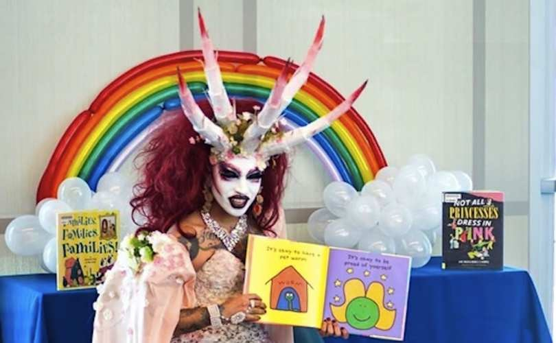 Image: American Library Association approves transgender demon-garbed liberals reading books to little children