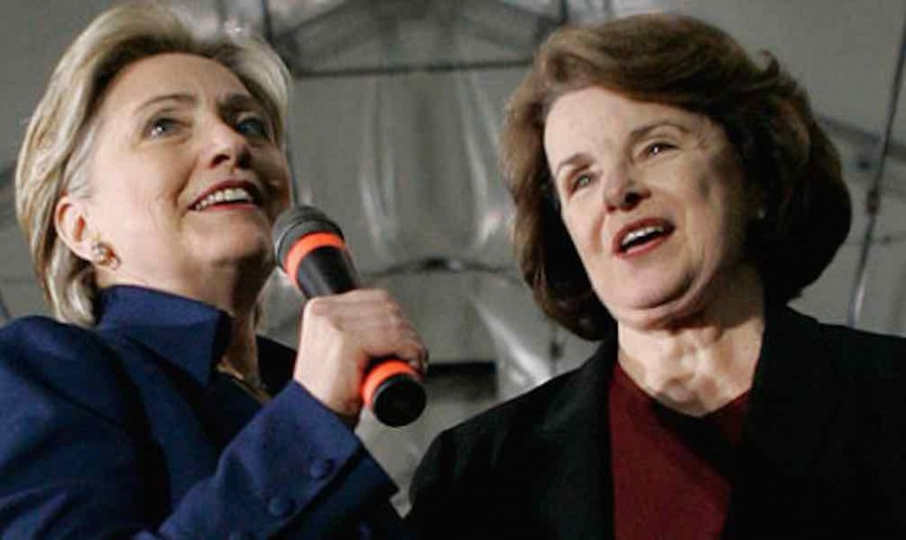 Image: Espionage by China exploited Hillary Clinton and Dianne Feinstein security lapses to identify and murder of 20 CIA operatives