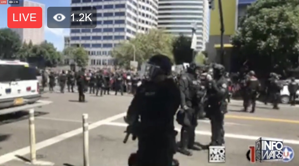 Image: Fatalities averted at Portland protests due to overwhelming presence of cool-headed patriots