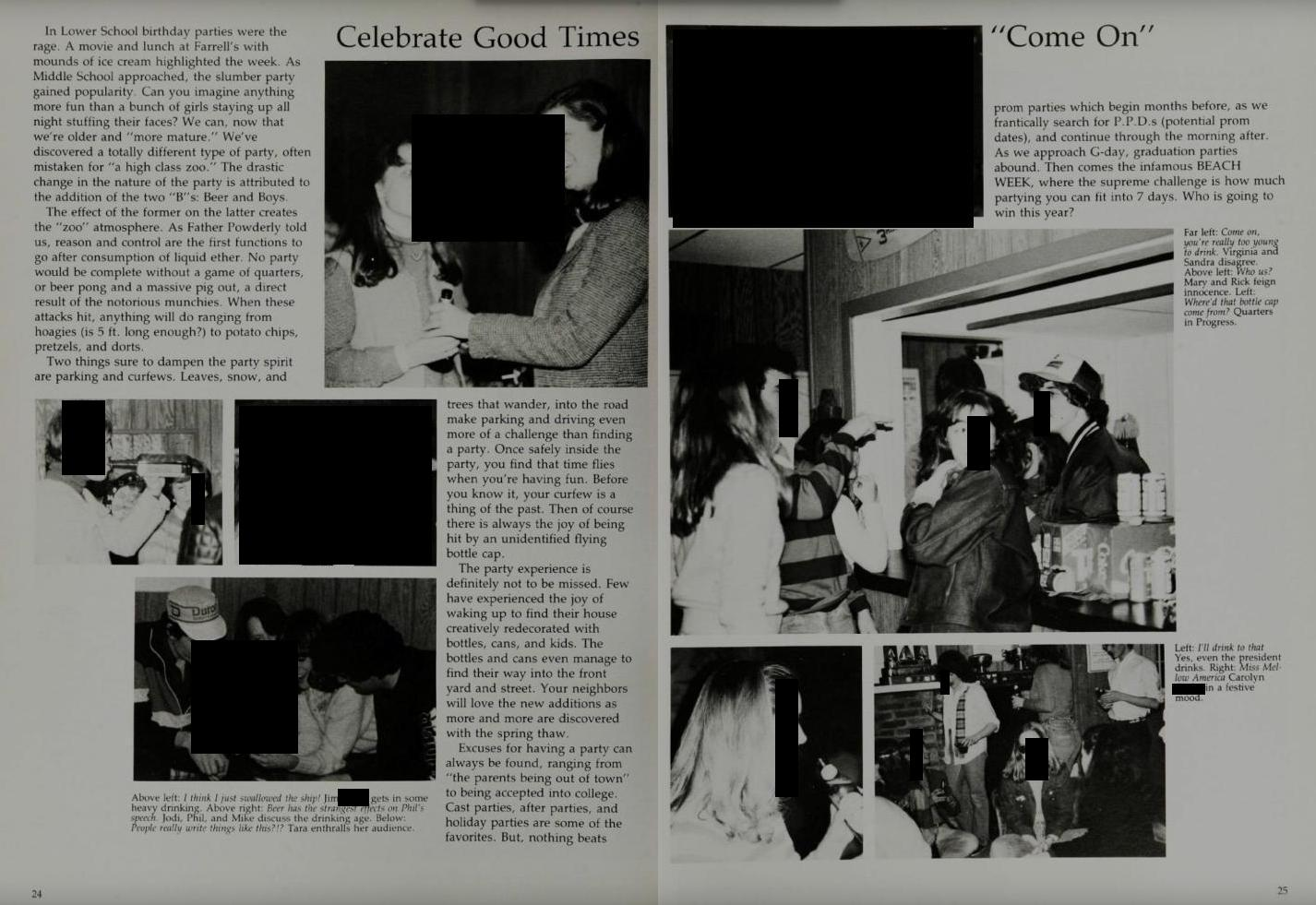 Image: Kavanaugh accuser Blasey Ford's high school yearbooks scrubbed of info about wild sex parties, drunken blackouts, and more