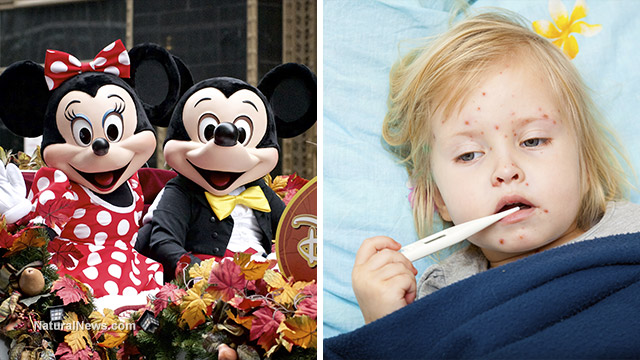 Image: Vaccine industry celebrates Disneyland measles outbreak operation as a huge success, seeks to model similar outbreaks for more fear propaganda