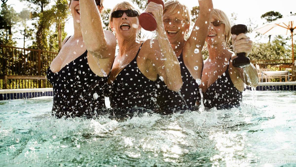 Image: Time to get in a pool! Aquatic exercise relieves pain in arthritic patients