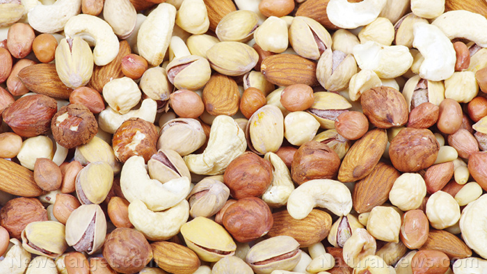 Image: Lower your risk for heart disease when you make peanuts and tree nuts a regular part of your diet