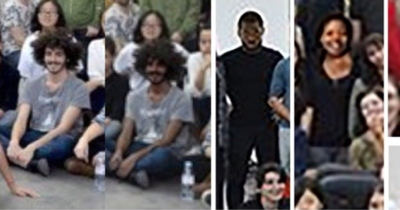 "Image: French school artificially Photoshops skin of college students to fake darker ""diversity"" skin color"