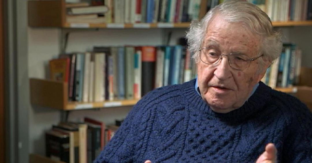 Image: Icon of free speech Noam Chomsky says it was wrong of Big Tech to ban Infowars
