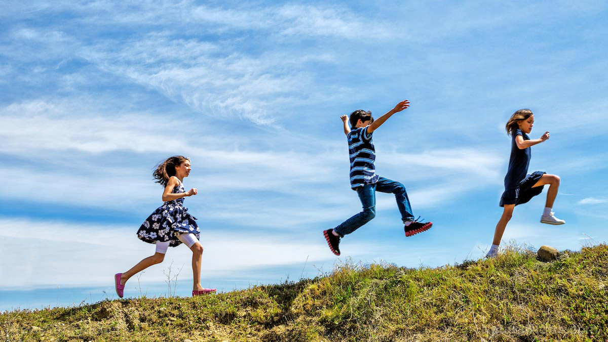 Image: Dirt, germs, exercise, sunshine and fresh air: Outdoors is an adventure for kids that leads to a lifetime of good health