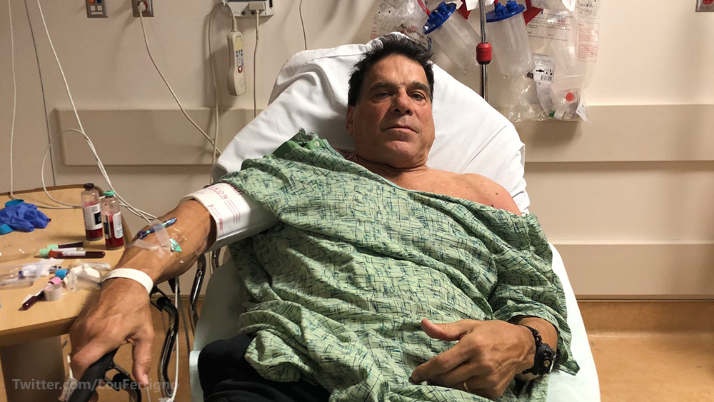 """Image: """"Incredible Hulk"""" Lou Ferrigno hospitalized after vaccination goes horribly wrong"""