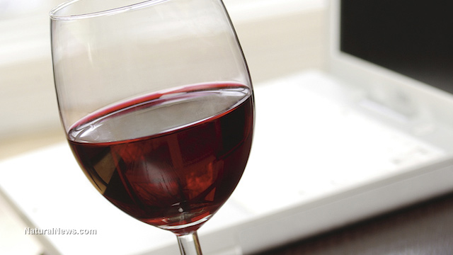 """Image: Drinking red wine causes flurry of """"brain exercise"""" as neurons work to analyze the experience"""
