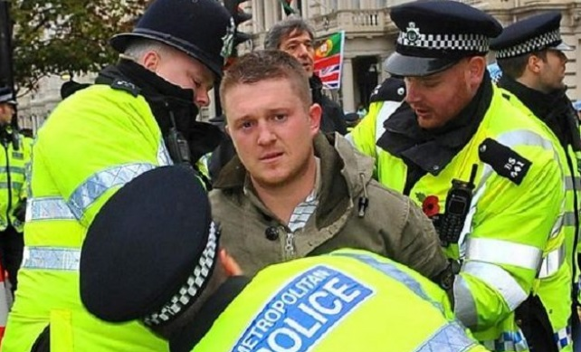 Image: Citizen journalist Tommy Robinson jailed under secret order from UK government; total media blackout issued to protect Muslim pedophiles