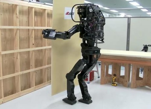 humanoid robot - looks rather clumsy