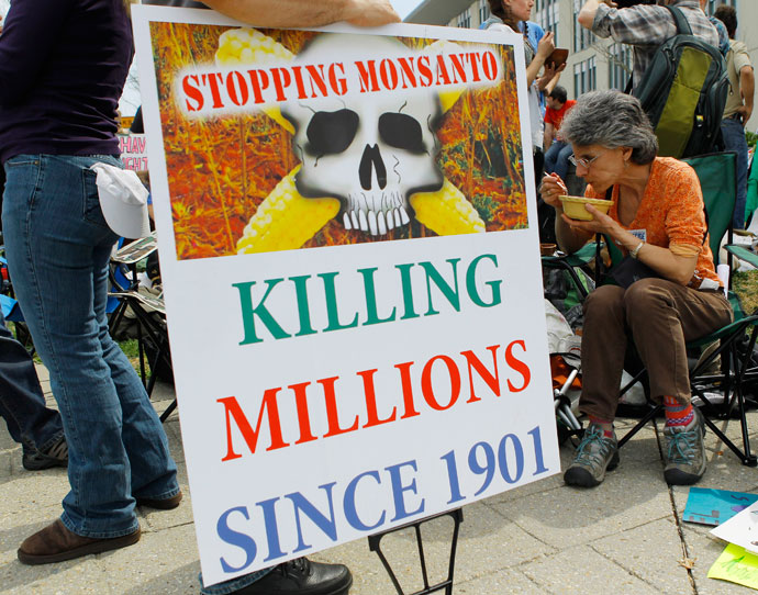 Image: Sowing the seeds of suicide: Monsanto's ownership of our food supply is destroying farming
