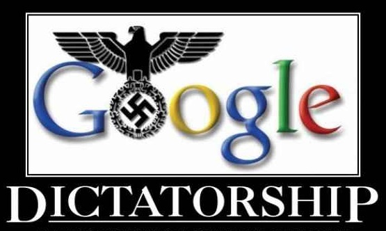 "Image: Evil Google pushing ""final solution"" to eradicate independent news from the web… FOREVER"