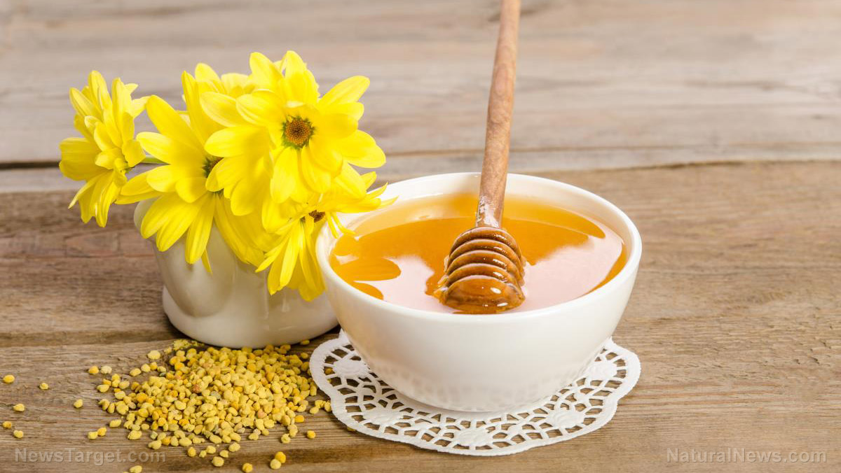 "Image: Bee pollen proven to be a ""treasure trove of active natural metabolites"" that benefit human health"
