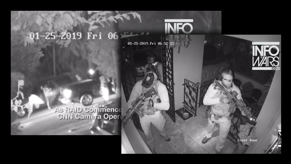 Image: BREAKING: Surveillance video captures FBI directing CNN camera man at Roger Stone raid; it's all THEATER