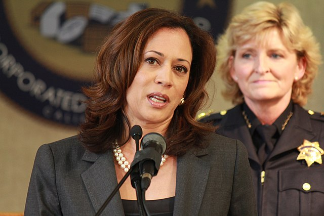 Image: Democrat frontrunner Kamala Harris promised to SHUT DOWN all private health insurance nationwide… then walked it back after the insanity of the plan emerged
