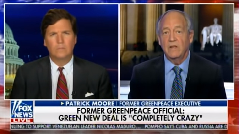 "Image: Greenpeace co-founder echoes Health Ranger warning: AOC's Green New Deal is deadly, ""Half the population will die"""