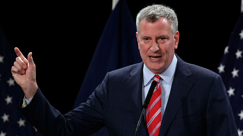 Image: NYC Mayor De Blasio tells citizens: We own your bodies, and we can force you to be injected with anything we want
