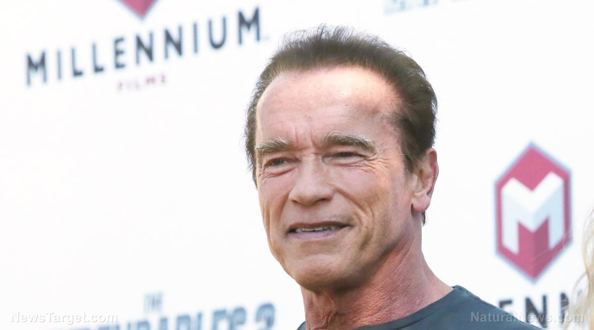 "Image: Schwarzenegger vows to ""terminate"" oil companies with lawsuits after accusing them of ""first-degree murder"" for causing climate change"