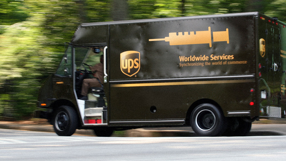 Image: UPS partnering with drug giants to inject you with vaccines in your own home… pilot project a blueprint for nationwide vaccine mandates at gunpoint