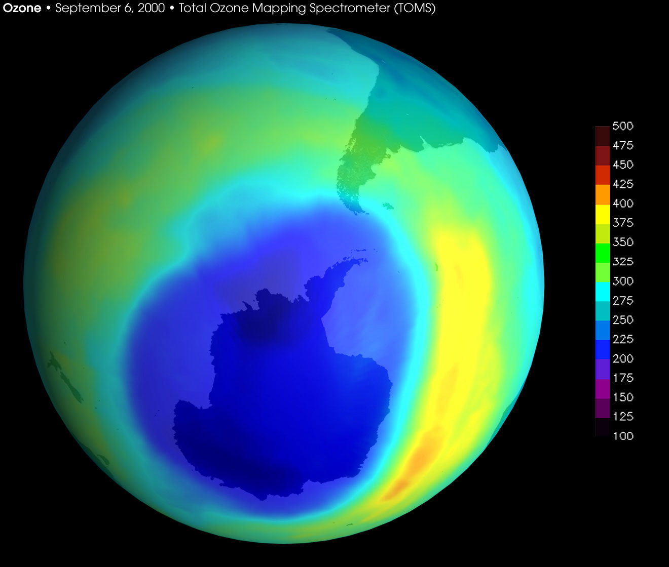 Image: Earth's ozone hole rapidly shrinking following ban of ozone depleting chemicals
