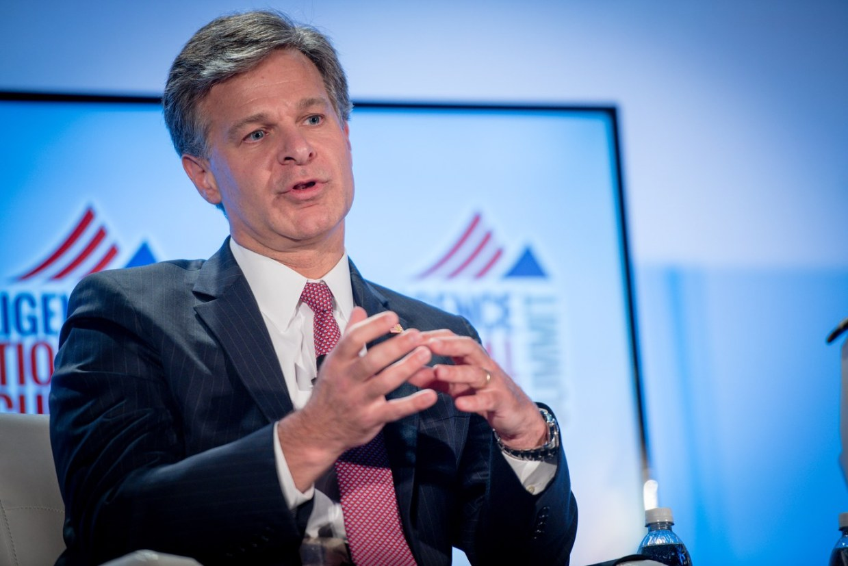 """Image: FBI's Wray shows he's a deep state swamp creature after claiming he wouldn't use term """"spying"""" to describe FBI surveillance on Trump campaign officials"""
