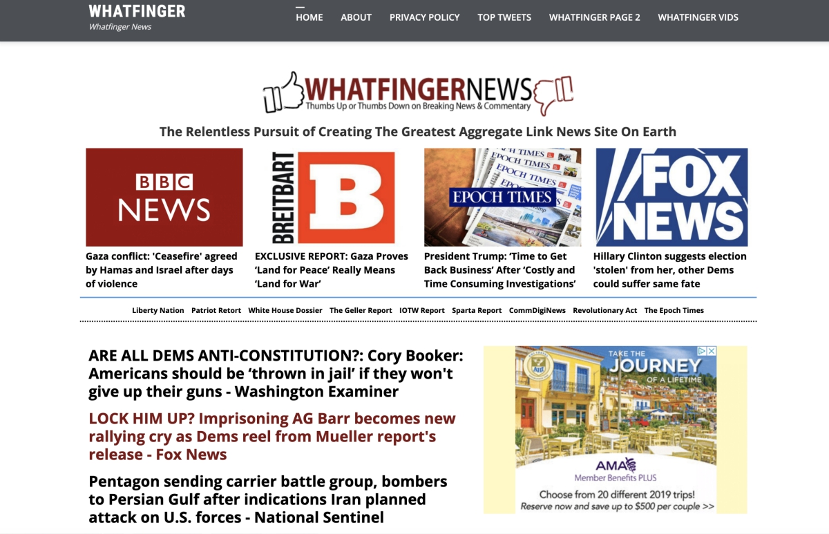 Image: Is Whatfinger News the next Drudge Report? More news and more liberty WITHOUT all the Drudge attacks on nutrition and natural medicine