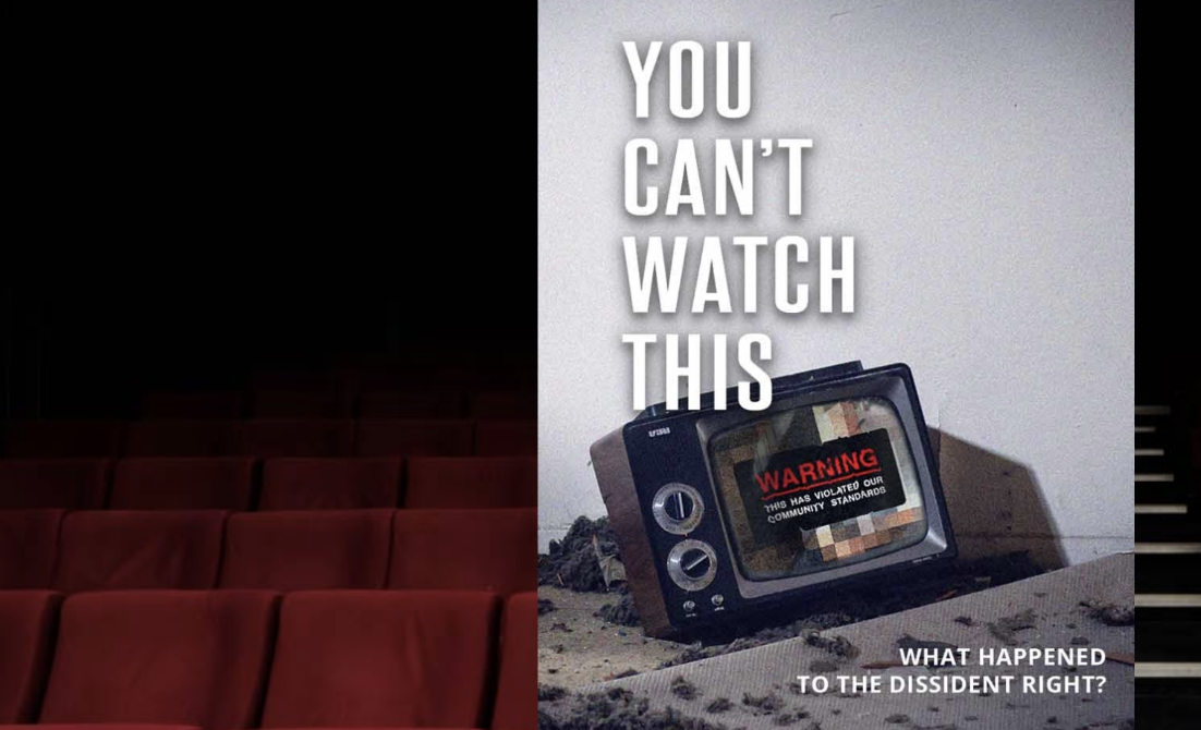 "Image: New film ""You Can't Watch This""  chronicles the big tech censorship of conservatives like Alex Jones, Paul Joseph Watson, Laura Loomer"
