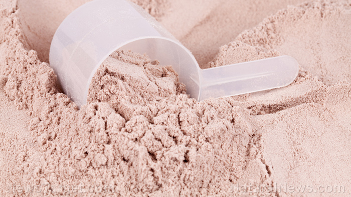 Image: Shredded: Whey protein and resistance exercise are the perfect combo for muscle mass gain