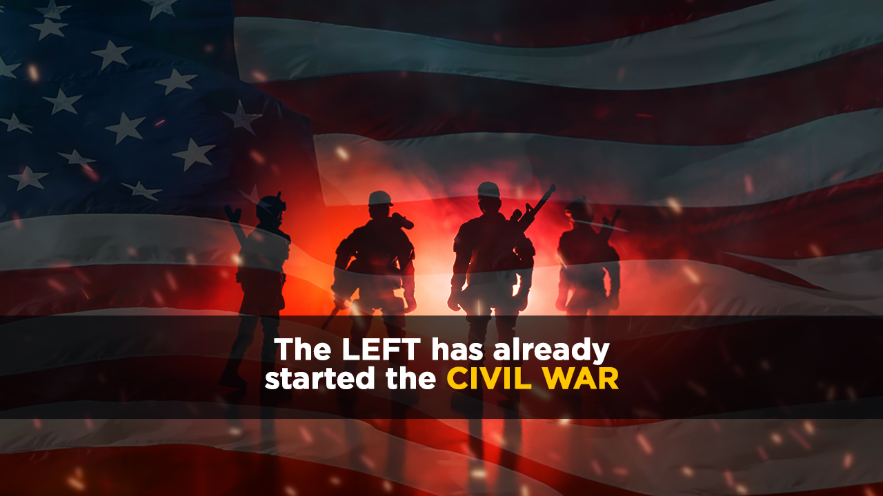 Image: Leftists triggered by questions and media lies are pushing America closer to Civil War: Increasingly violent Left won't be able to survive the terror they're unleashing upon America