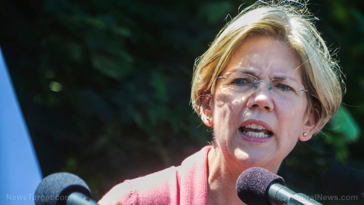 Image: As she lies to voters about plans to fight Big Pharma, Elizabeth Warren exposed for siding with Dow Chemical against breast implant victims