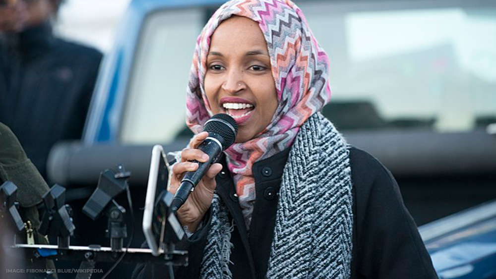 Image: Treasonous Ilhan Omar calls for UN occupation of the United States of America