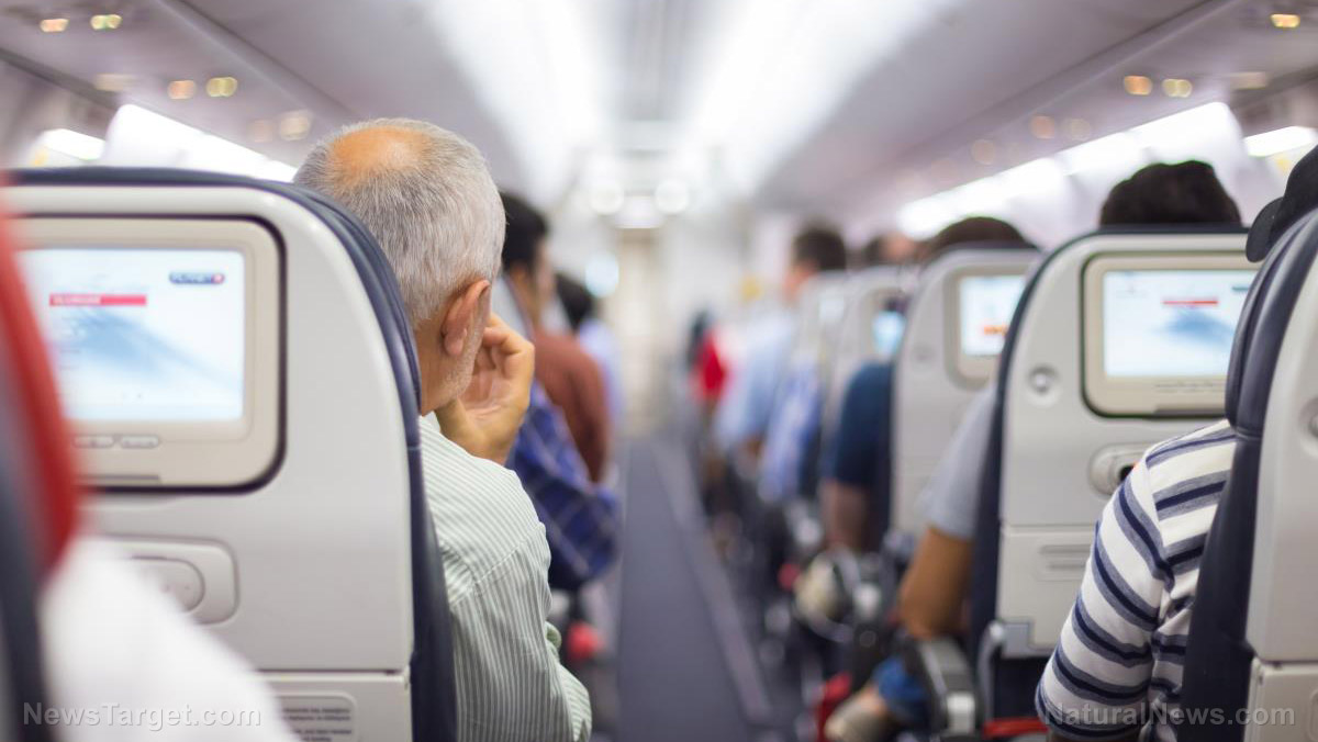 Image: Cameras installed in airline seats are now surreptitiously record you during every flight, then store the video files indefinitely
