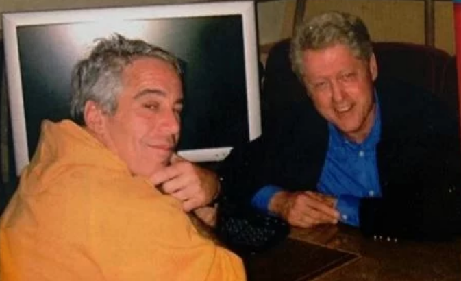 Image: Isn't it obvious? Jeffrey Epstein was murdered because dead men don't talk (about the Clintons)
