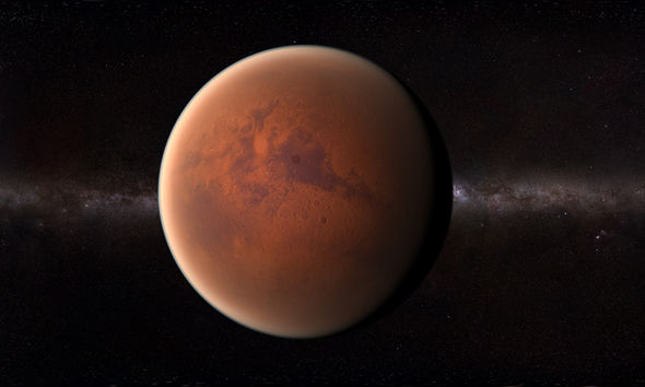 "Image: Experts believe that Mars once had a thick hydrogen atmosphere that could sustain ""key ingredients of life"""