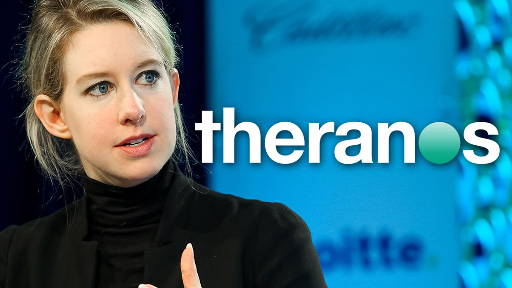 "Image: Elizabeth Holmes' ""Theranos"" fraud was actually a plot to surveil the blood and DNA of everyone"