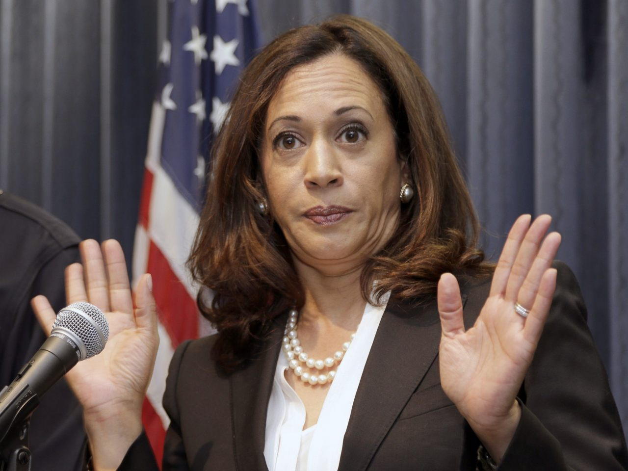 "Image: Kamala Harris accused of keeping blacks jailed to provide ""slave wage labor"" to the state of California"