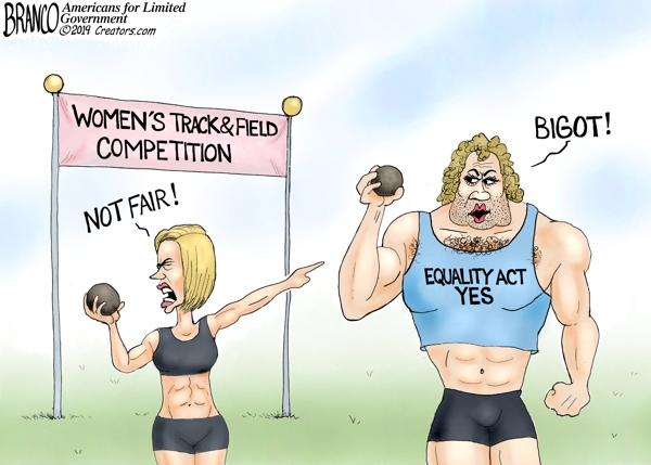 "Image: More proof that the LGBT mafia is destroying women's sports in the name of ""tolerance:"" another biological man competes in female competition to ensure an easy ""victory"""