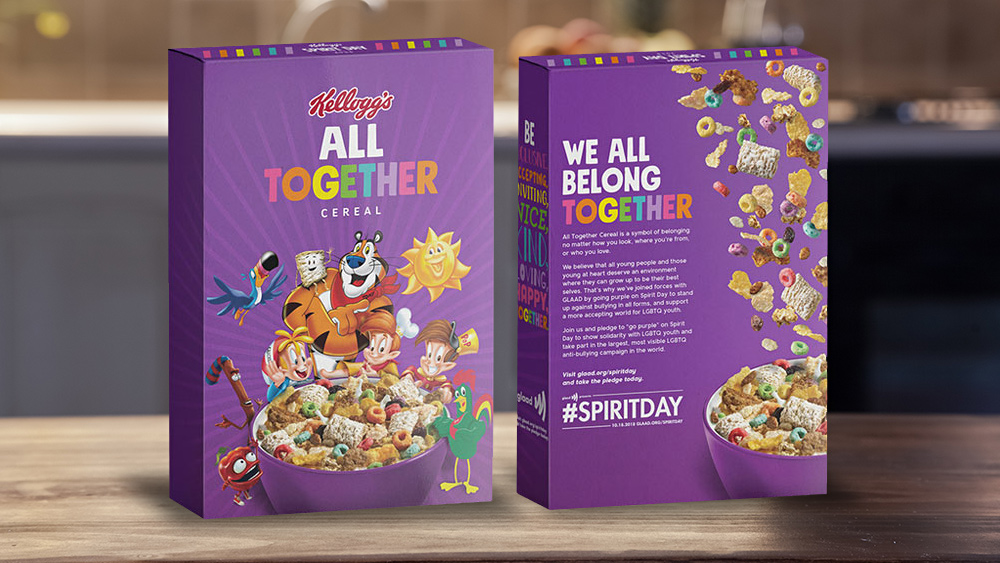 Image: Kellogg's introduces new gay cereal to teach children how to become transgenders while they eat processed breakfast junk food