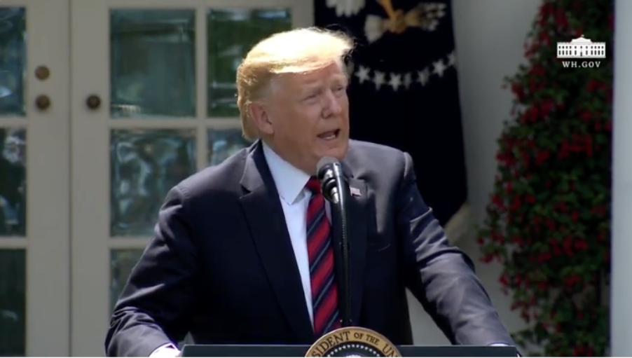 Image: President Trump says Big Pharma could be driving impeachment hoax