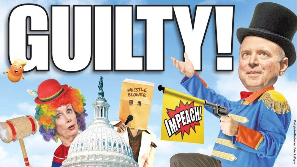 "Image: What a Schiff Show! Congressional clowns unleash staged ""impeachment theater"" that only makes themselves look like moronic fools and cheats"