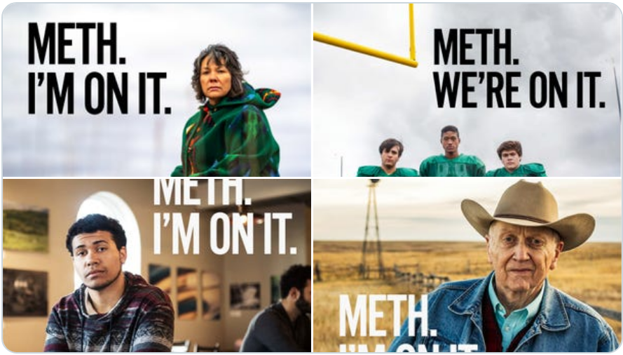 "Image: South Dakota spends nearly $500,000 on anti-meth ad campaign with tagline ""meth – we're on it"""
