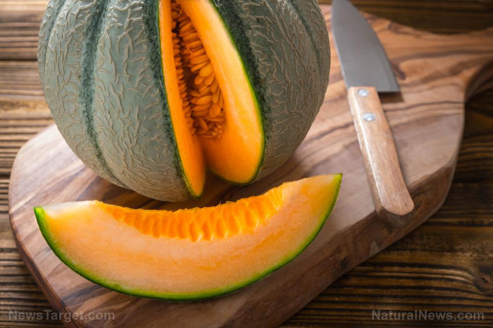 Image: Scientists combined pulsed light treatment and edible coating to preserve fresh-cut cantaloupes