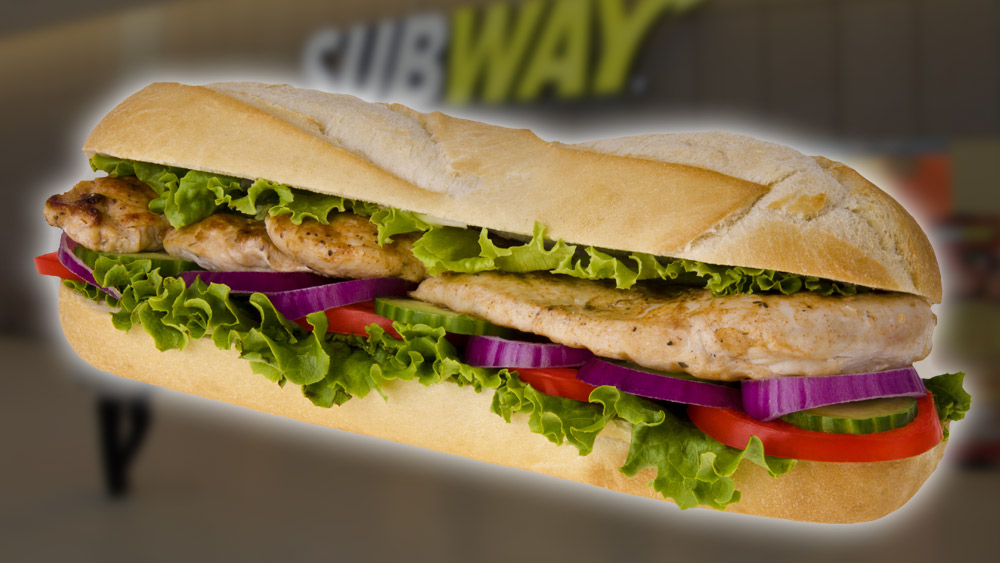 Image: Subway tries to sue the journalists who concluded Subway's roasted chicken is only 53.6% real meat