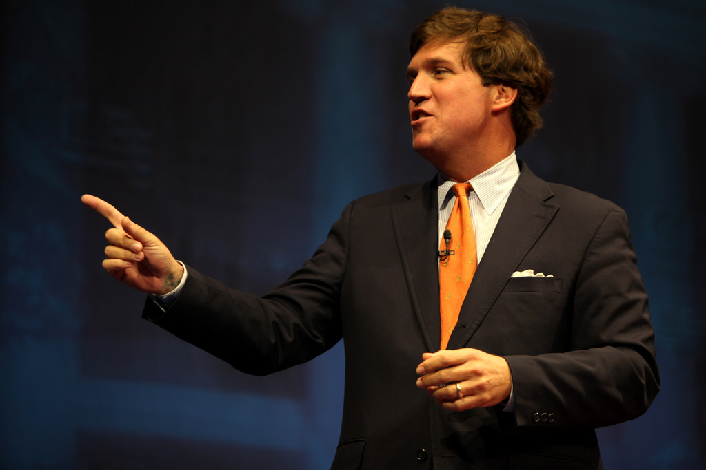 "Image: Tucker Carlson outs fake ""conservative"" think tanks for doing Big Tech's bidding"
